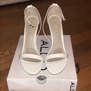 Like new! White single strap heels